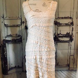 Max studio stretch lace dress